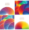 Set of four abstract background with spectrum vector image vector image
