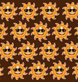 happy funny sun sunglasses wallpaper pattern vector image
