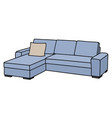 light blue sofa vector image