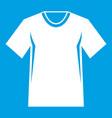 men tennis t-shirt icon white vector image