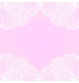 White borders on pink background vector image