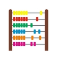 Colorful children abacus icon vector image