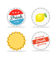 Different bottle caps set flat design vector image vector image