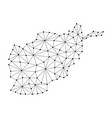 afghanistan map of polygonal mosaic lines network vector image