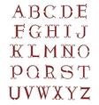 Elegant retro style red font set vector image