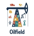Energy and oil industry flat infographics design vector image