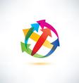 globe arrow abstract symbol vector image