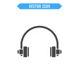 headphone flat icon vector image