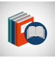 library books school e-learning vector image