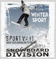 Snowboard jump hill vector image