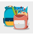two backpack school bag design vector image