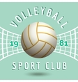 Volleyball sport team emblem vector image