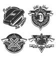Vintage wild west emblems vector image