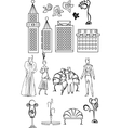 Set of art deco style elements vector image vector image