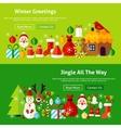 Winter Greetings Website Banners vector image
