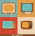 Retro Television Icons vector image