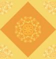 seamless pattern with orange ornamental decor vector image vector image