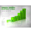 graph green text vector image vector image