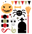 Beautiful cute halloween design elements vector image vector image