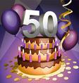 Fiftieth birthday vector image