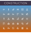 Construction Line Icons vector image