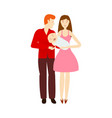 flat cartoon adult couple and infant vector image