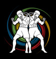 muay thai thai boxing standing ready to fight vector image