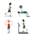 People Workouts Set Set vector image