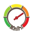 Speedometer icon cartoon style vector image