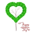 Valentines day greeting card with calligraphic vector image