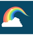 Rainbow icon flat LGBT concept image vector image