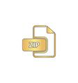 ZIP computer symbol vector image