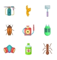No insects icons set cartoon style vector image
