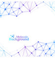 scientific chemistry pattern structure molecule vector image