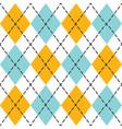 blue and orange trendy argyle seamless pattern vector image