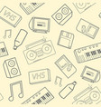 stylish seamless pattern with old school vector image