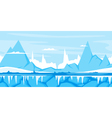 Winter Mountain Game Background vector image