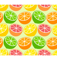 Seamless wallpaper pattern with citrus fruits vector image vector image
