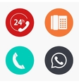 modern phone colorful icons set vector image vector image