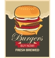 banner with cheeseburger vector image