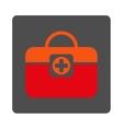 Medic Case Flat Button vector image