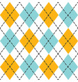 blue and orange trendy argyle seamless pattern vector image