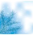 blue xmass tree vector image