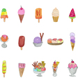Collection of colorful tasty ice cream vector image