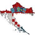 Croatia map with flag inside vector image
