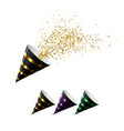 festive party poppers set vector image