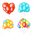 realistic balloon set vector image