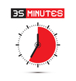 Thirty Five Minutes Stop Watch - Clock vector image