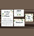 wedding invitation card suite with daisy flower vector image