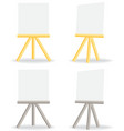 Wooden easel drawing board vector image